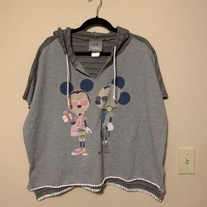 Disney Boutique Mickey and Minnie Mouse Boho Top